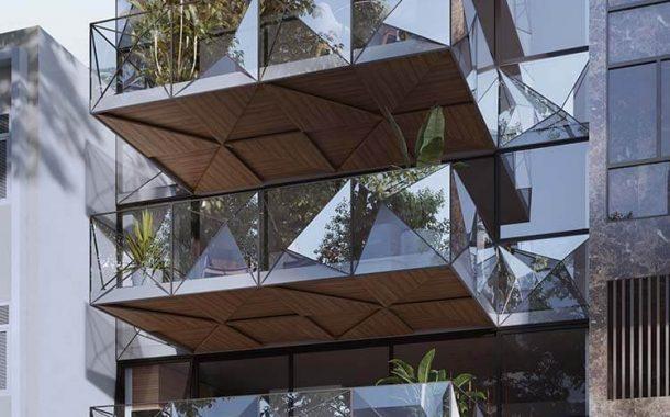 Fachada toda de vidro garante o máximo de iluminação natural