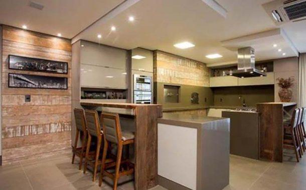 Área gourmet: revestimentos cerâmicos dão destaque ao ambiente