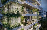 Fachada com jardins verticais