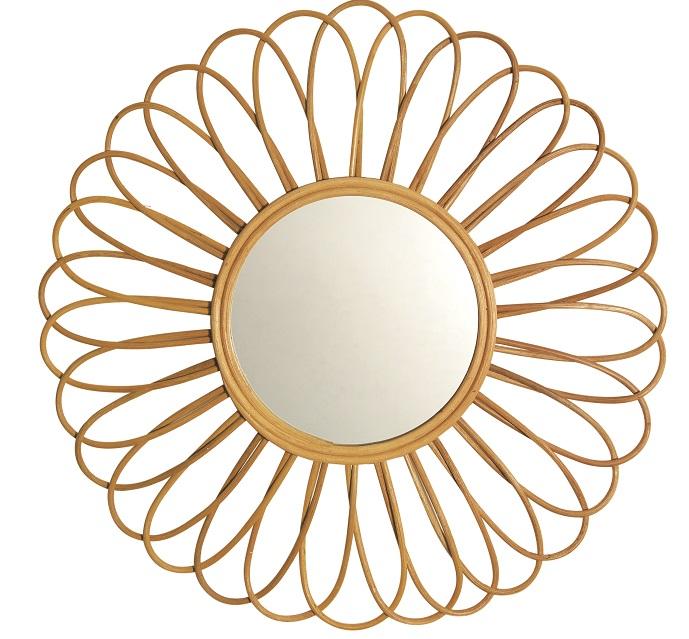 Espelhos decorativos inspirados no sol